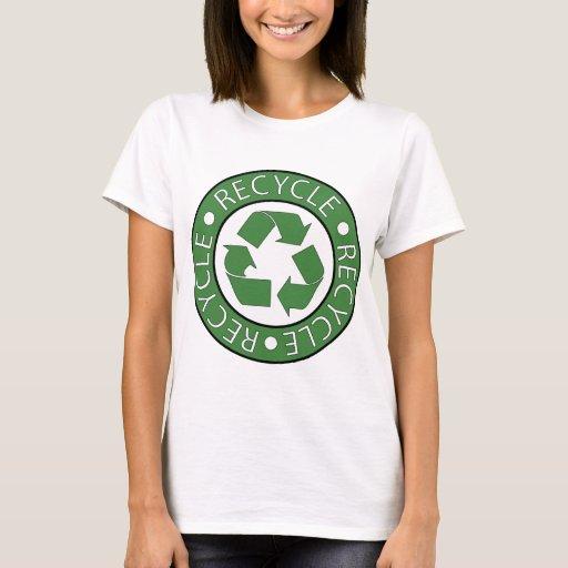 Recicle el verde playera