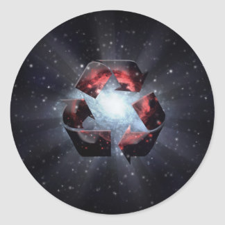 Recicle (espacio) etiquetas redondas