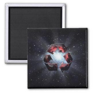 Recicle (espacio) imán para frigorifico
