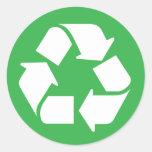 Recicle Etiquetas Redondas