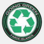 Recicle Faroe Island Etiqueta Redonda