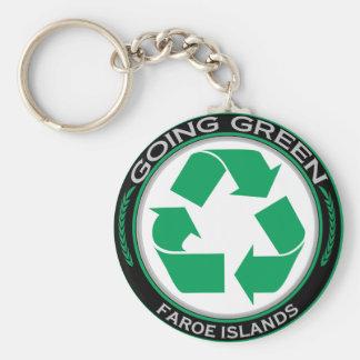 Recicle Faroe Island Llavero Personalizado