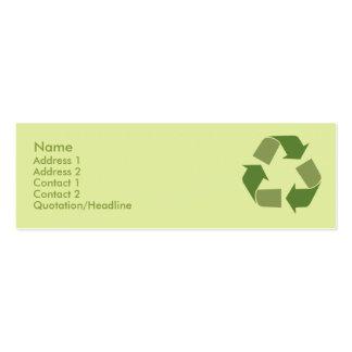 Recicle - flaco tarjetas de visita mini