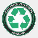 Recicle Hungría Etiqueta Redonda