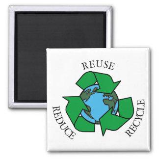 Recicle Imán Cuadrado