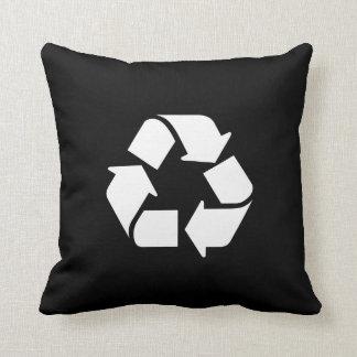 Recicle la almohada de tiro del pictograma