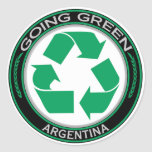 Recicle la Argentina Etiquetas Redondas