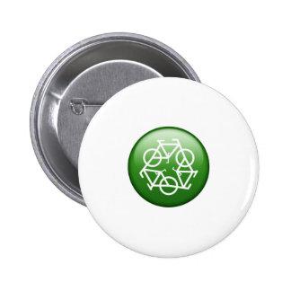 Recicle la bici pin