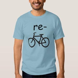 Recicle la bicicleta divertida polera