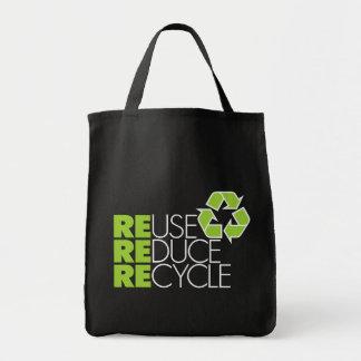 Recicle la bolsa de asas del ultramarinos