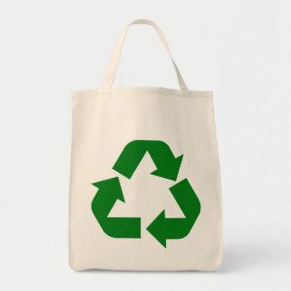 Recicle la bolsa de asas del ultramarinos del símb