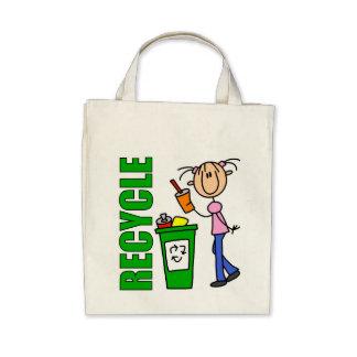 Recicle la bolsa de asas orgánica del ultramarinos