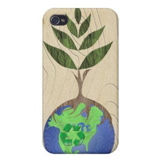 Recicle la caja de madera del iPhone del grano del iPhone 4/4S Carcasas
