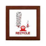 Recicle la caja de regalo cuadrada de la teja de l