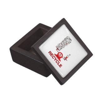 Recicle la caja de regalo cuadrada superior de la cajas de recuerdo de calidad