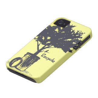 Recicle la caja del iPhone 4 del árbol Case-Mate iPhone 4 Cobertura