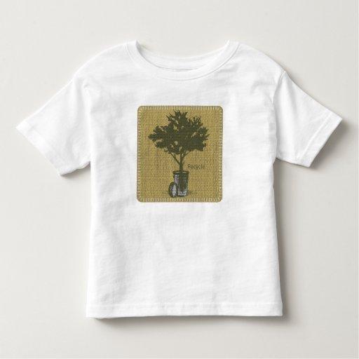 Recicle la camiseta del niño playera