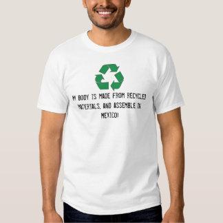 Recicle la camiseta divertida amistosa de Eco Poleras