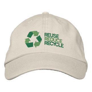 Recicle la conciencia del ambiente gorra de béisbol