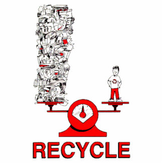 Recicle la escultura de la foto de la basura llavero fotográfico