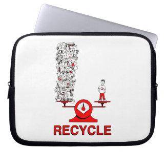 Recicle la manga del ordenador portátil de la basu funda para portátil