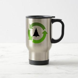 recicle la materia taza de viaje