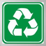 Recicle la muestra de la carretera posters