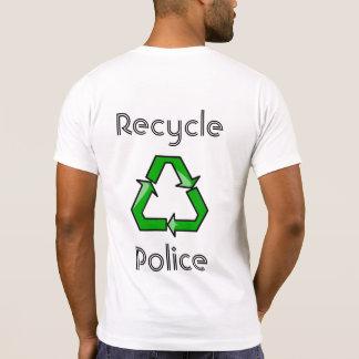 Recicle la policía camisetas