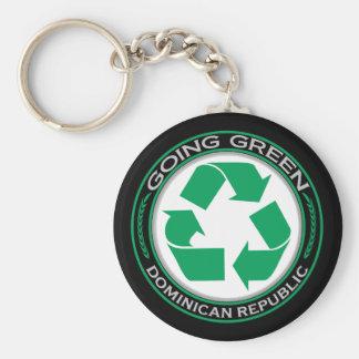 Recicle la República Dominicana Llavero Personalizado