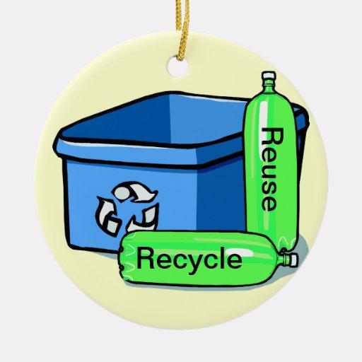 Recicle la reutilización adorno redondo de cerámica