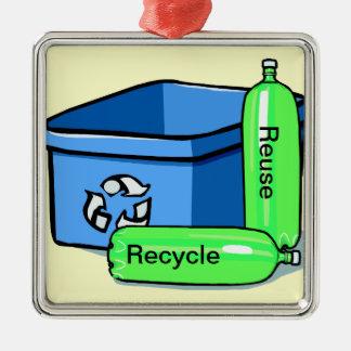 Recicle la reutilización ornamento de navidad
