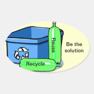 Recicle la reutilización calcomanías de ovales