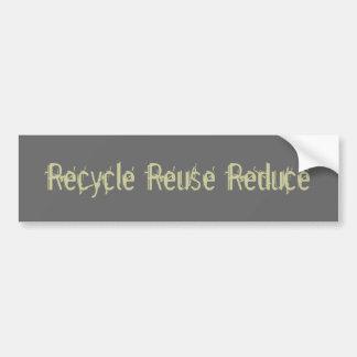 Recicle la reutilización reducen pegatina para auto
