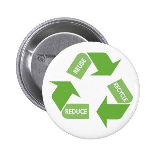 Recicle la reutilización reducen pin