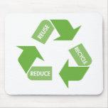 Recicle la reutilización reducen tapete de ratones
