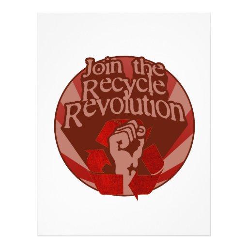Recicle la revolución flyer personalizado