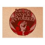 Recicle la revolución tarjeta postal