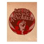 Recicle la revolución tarjetas postales