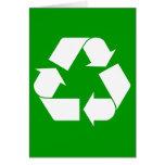Recicle la tarjeta