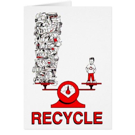 Recicle la tarjeta de la basura