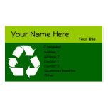 Recicle la tarjeta de visita con su información