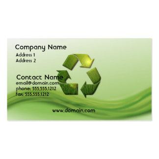 Recicle la tarjeta de visita del símbolo