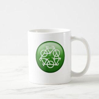 recicle la taza de cerámica verde de Petr
