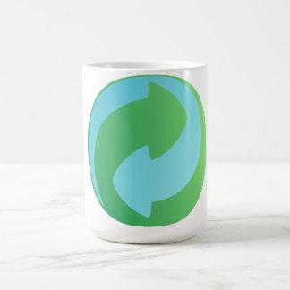Recicle la taza del agua