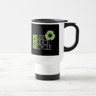 Recicle la taza del viaje