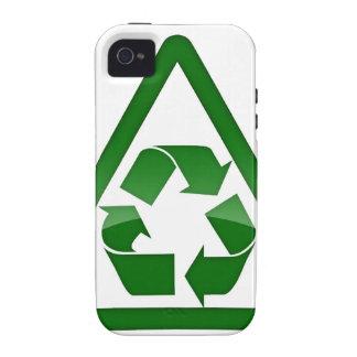 Recicle la tierra amistosa verde de la reserva de Case-Mate iPhone 4 carcasa