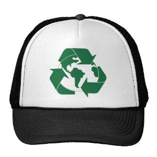 Recicle la tierra gorro de camionero