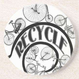 Recicle las bicicletas de w posavaso para bebida