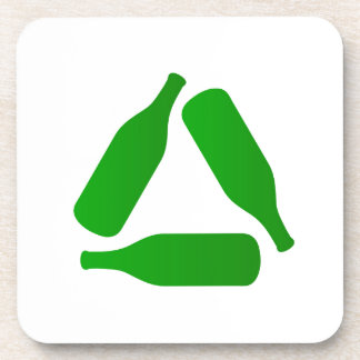 Recicle las botellas posavasos de bebida