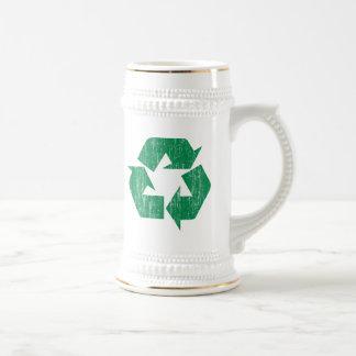 Recicle las camisetas para el Día de la Tierra Jarra De Cerveza